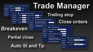 trade Manager - панель для сопровождения ордеров