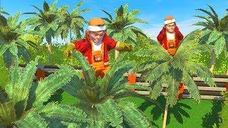 Как нам удалось незаметно спрятаться на верхушке пальмы от МАНЬЯКА!? Опасные прятки в Scrap Mechanic