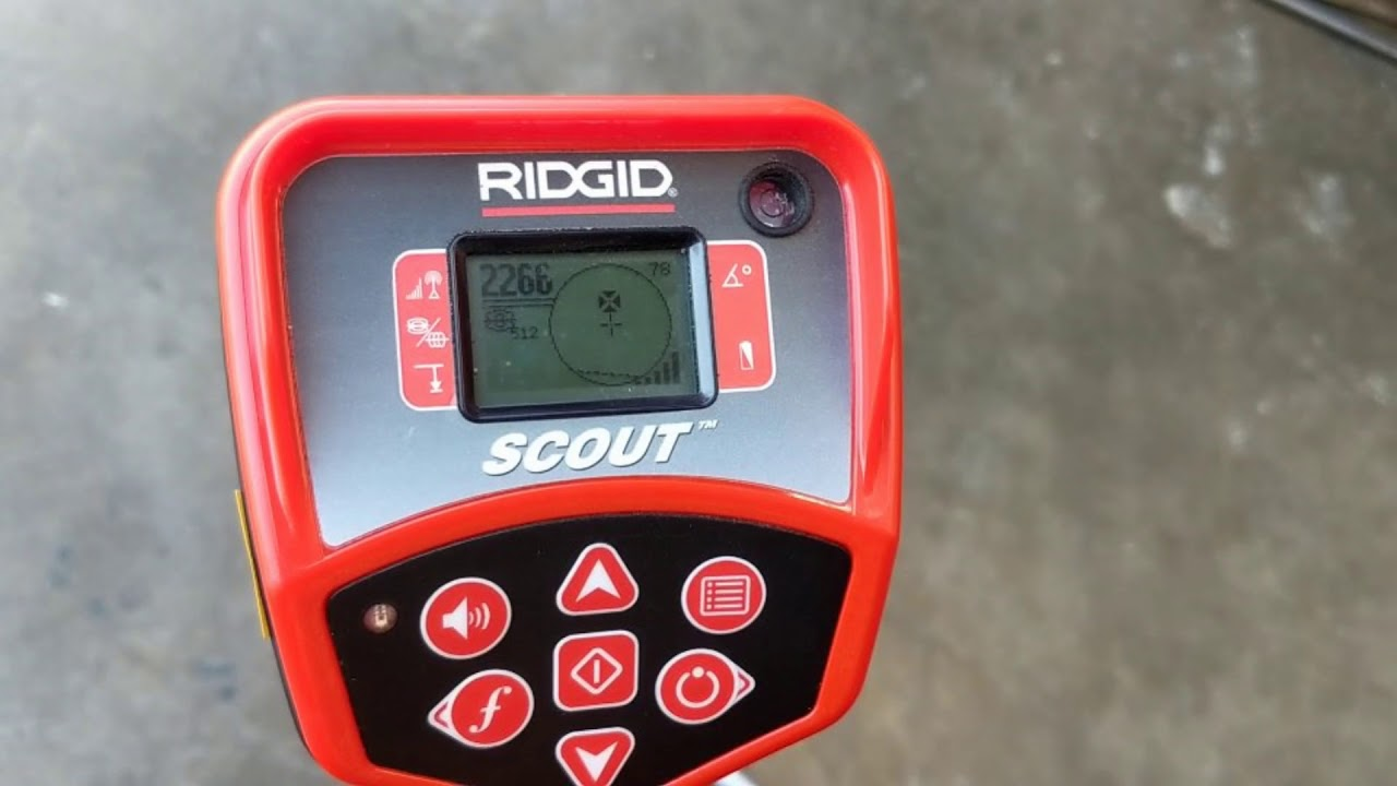 Basic Operation of a Ridgid Scout Navitrack Locator