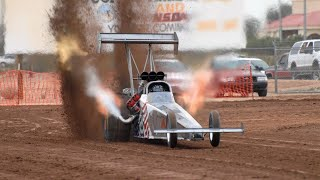 100 км/ч за 0,8 сек. 11 000 л.с. Top fuel Dragster Sand Dirt Drag Racing