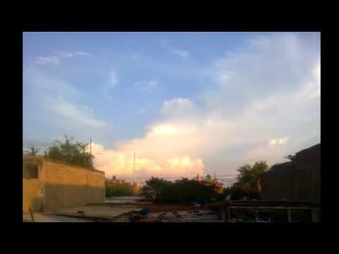 Nubes nimbus pasando a cirrus Piura, Perú 17/02/2017 timelapse