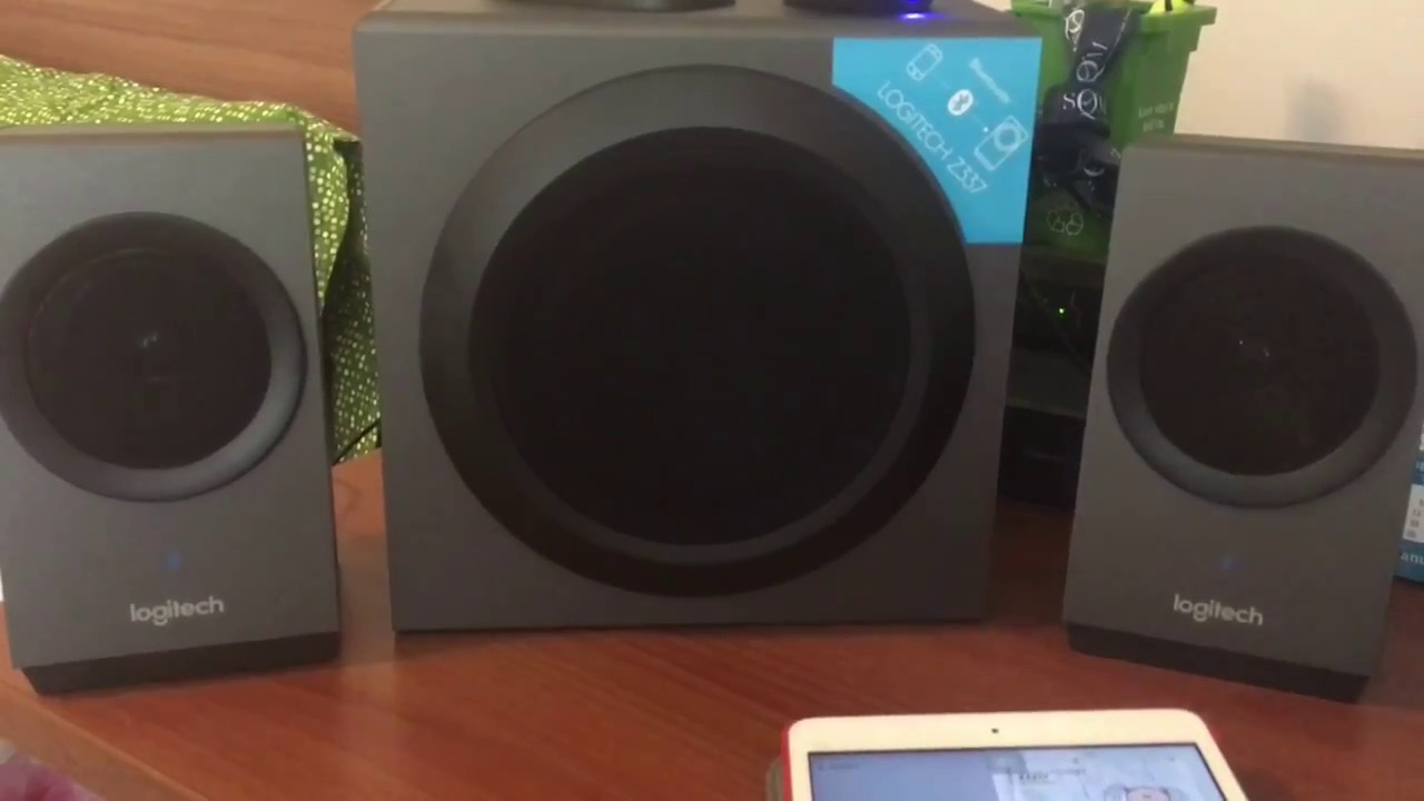Logitech Z337 Unboxing and Sound Test - BLUETOOTH - YouTube