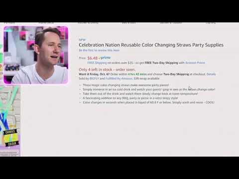 Celebration Nation Reusable Color Changing Straws Party Supplies (Matthias Best Moments)