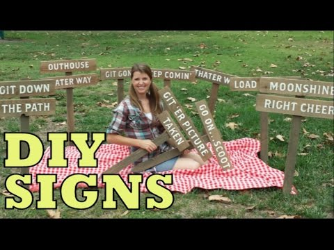 DIY Wood Signs | Easy To Make Weathered Wood Signs | Rustic Wooden Farmhouse Signs (Cheap)