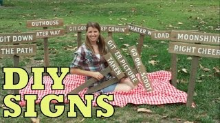 Cute Diy Directional Signs For Parties, Weddings, & Themed Events