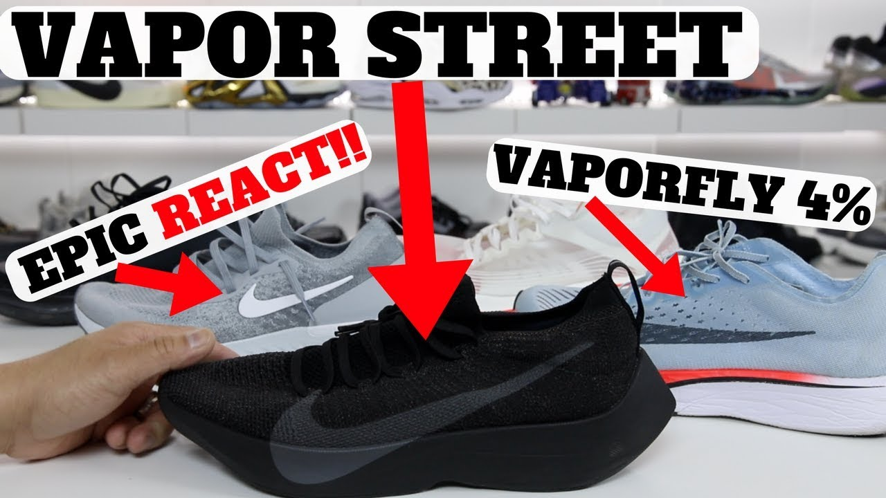 39ab8eadb02c Nike REACT Vapor Street Flyknit Review  Compared to Epic REACT   Zm  VaporFly 4%