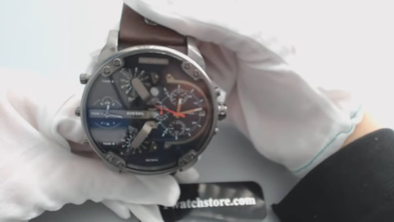Diesel DZ7314 Mr Daddy 2 0 Four Time Zones Oversize Watch - YouTube dcc0bfd4b98