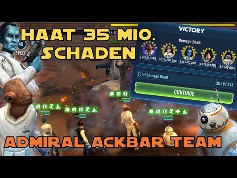 Star Wars Galaxy of Heroes - HAAT Admiral Ackbar Team 35 Mio. Schaden - SWGOH Deutsch / German