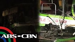 2 patay, 47 sugatan sa salpukan ng bus at trak