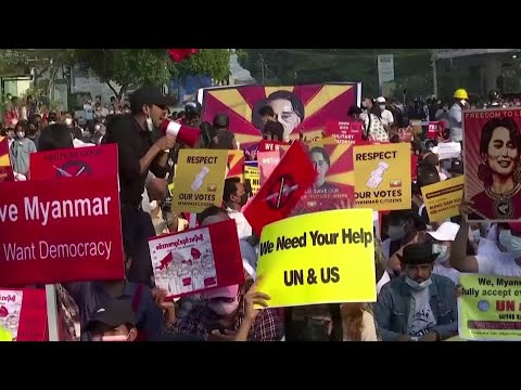 Image result for protesters in myanmar youtube