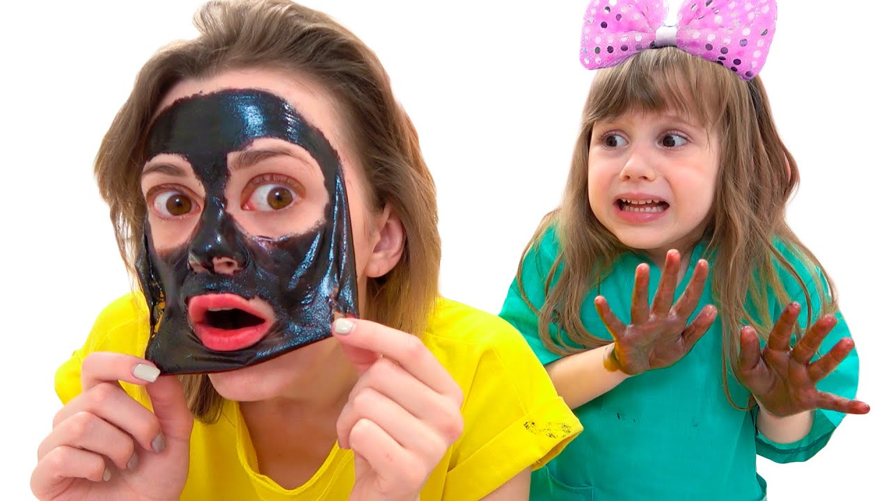 Ева и сборник видео про игры с косметикой