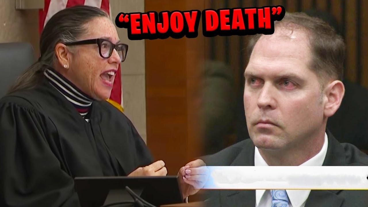 Judge Destroys Evil Cop Sentenced to Death..