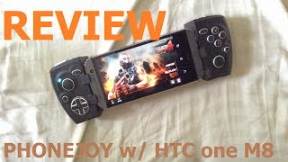 Review of Phonejoy play controller w/ HTC one M8 (modern combat 4)