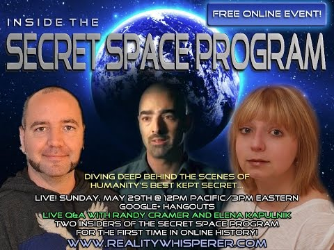Inside the Secret Space Program w/ Randy Cramer (Captain Kaye)  & Elena Kapulnik
