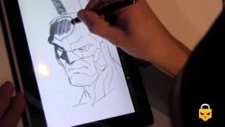 How to draw Batman with Ipad with CARLOS GÓMEZ