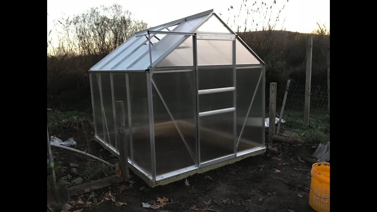 Harbor Freight Greenhouse 6x8 How To Build With Part Numbers 4k