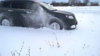 subaru tribeca валит по снегу
