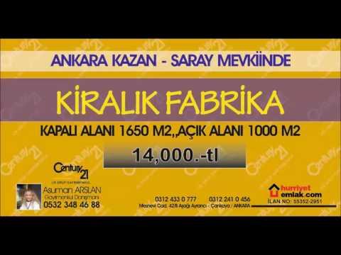 KAZAN-SARAY'DA  1650 M2 BAĞIMSIZ FABRİKA