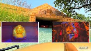 Dark Water Slide Rides with Dinosaurs & Pharaohs Animatronics  | Water World Water Park