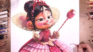 Drawing Princess Vanellope (Wreck-It Ralph)   drawholic
