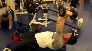 Rolling Dumbbell Tricep Extension