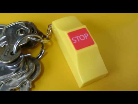 "Singapore Bus ""Bus Stopping Bell"" Keychain"