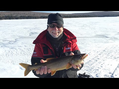 Ice Fishing First Connecticut Lake