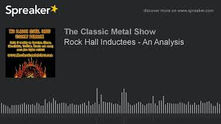 Rock Hall Inductees – An Analysis