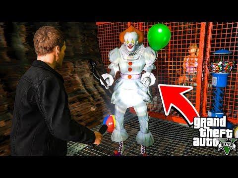 Как найти Клоуна Оно 2 Пеннивайз в Гта 5 моды? Обзор мода в Gta 5 видео