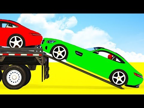 COLORS Sport Cars for Kids Transportation & Spiderman Superheroes Cartoon for Toddlers