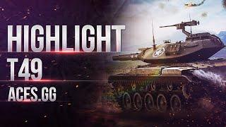 Highlights -  Т49 нагибает Евро сервер Worldoftanks