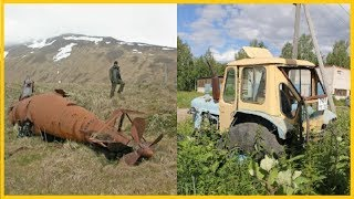 Abandoned Farm Tractors Exploring. Abandoned Rusty Submarines Wreck. Abandoned Heavy Vehicles