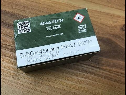5.56x45mm, 62gr FMJ, Magtech First Defense Tactical