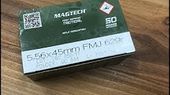 5.56x45mm, 62gr FMJ, Magtech First Defense Tactical