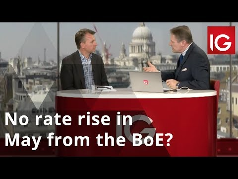 No rate rise in May from the Bank of England?