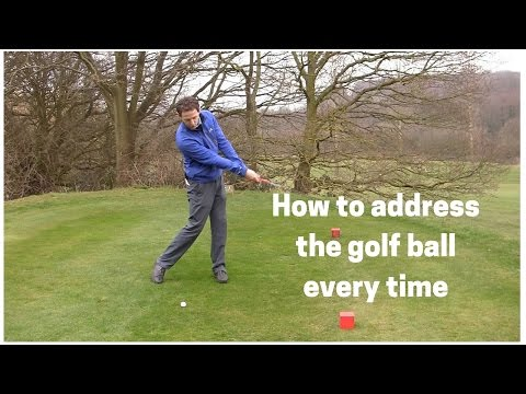 How to address the golf ball easily every time