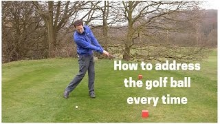 How to address tнe golf ball easily every time