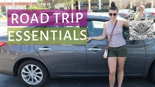 ROAD TRIP ESSENTIALS | What to pack for a road trip vacation