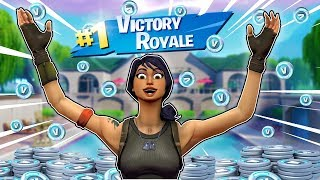 LAST MAN STANDING IN FORTNITE WINS 1,000 V-BUCKS!!!