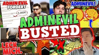 ALLE AdminEvil Youtuber GEBUSTED 🚫⚠️