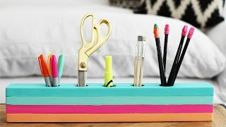 How to make a Wood Desk Caddy - HGTV Handmade