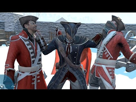 Assassin's Creed 3 Templar Master Combat & Free Roam
