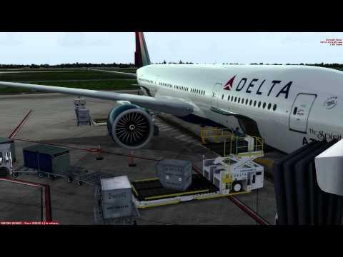 Prepar3d Boeing 777-200LR Flight Orlando Intl. to London Heathrow. (Flight sim)
