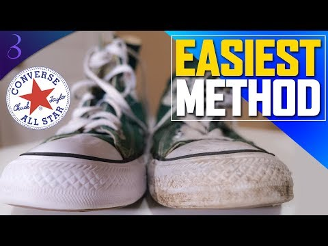 HOW TO WASH CONVERSE | Clean converse chuck taylor all star shoes & resize them the quick & easy way