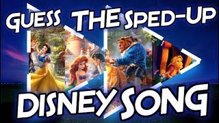Guess The Sped-Up Disney Song!!
