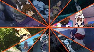 11 Аниме, в котором парень носит девушку на плечи / спине | Shoulder riding in anime