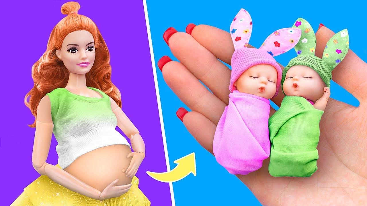 12个娃娃窍门和手工DIY!迷你的宝贝,婴儿爽身粉,尿布等等!