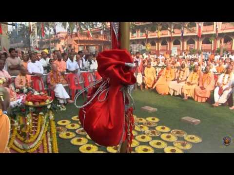 2016 Mayapur Festival Grand Opening Celebration - Flag Raising Ceremony.