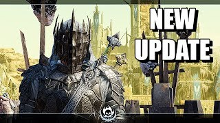 SHADOW OF WAR - NEW UPDATE MASK OF THE UNDYING UNIQUE BERSERKER OVERLORD IN DESERT