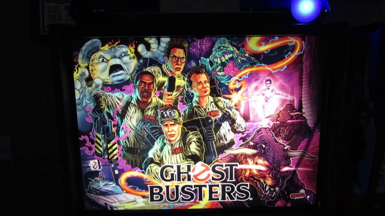 Stern Ghostbusters Pinball Topper HD - Close up